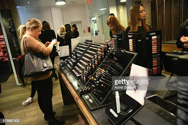 Guests attend MAC Cosmetics Brow Presentation Press Junket with Damone Roberts at MAC Pro Store on March 3 2016 in New York City