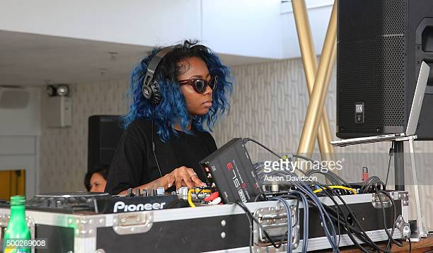 Guests attend Mark Anthony Green And Yes Julz Host Basel Tov Powered By JBL Heineken Sprite at Dream Hotel South Beach on December 6 2015 in Miami...