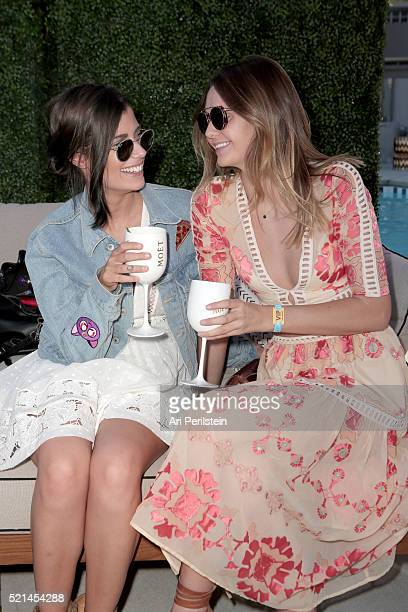 Guests attend Moet Chandon kicks off Coachella With REVOLVE on April 15 2016 in Palm Springs California