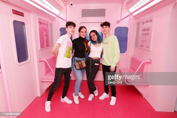 Guests attend Museum of Ice Cream SoHo Flagship Opening Party on December 12 2019 in New York City