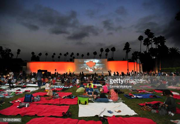 """Guests attend Netflix's """"Stranger Things"""" Celebrates 12 Emmy Nominations at Hollywood Forever on August 17, 2018 in Hollywood, California."""