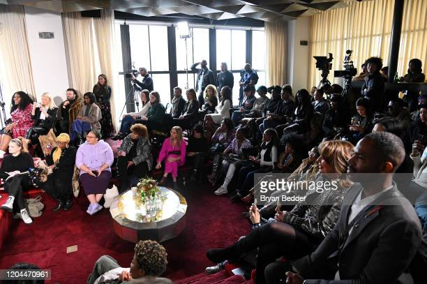 Guests attend NYFW The Talks The Evolving Standard of Beauty presented by The Miss Universe Organization during New York Fashion Week The Shows at...