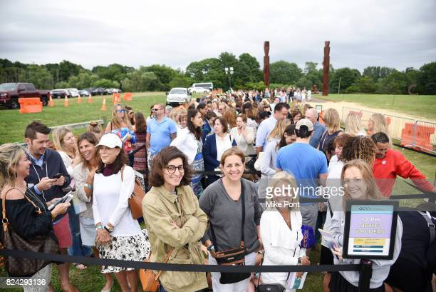 Guests attend OCRFA's 20th Annual Super Saturday to Benefit Ovarian Cancer on July 29 2017 in Watermill New York