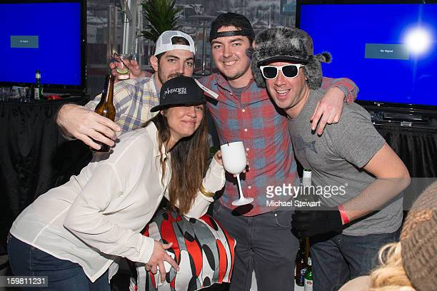 Guests attend Paige Hospitality Game Watch at Sky Bar on January 20 2013 in Park City Utah