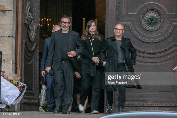 Guests attend Peter Lindbergh's funeral at Eglise Saint-Sulpice on September 24, 2019 in Paris, France.