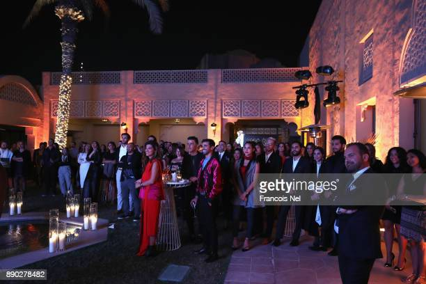 Guests attend Piaget celebrates Abdullah Al Kaabi's talent by hosting a private screening of his short film 'More Than Love' at Peregine Courtyard of...