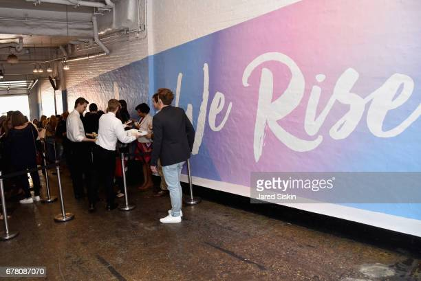 Guests attend POPSUGAR 2017 Digital NewFront at Industria Studios on May 3 2017 in New York City