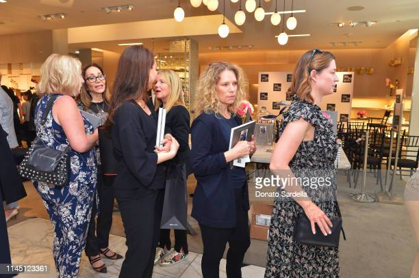 Guests attend Saks Beverly Hills Celebrates Our Shoes Our Selves Book Launch with Bridget Moynahan and Amanda Benchley on April 25 2019 in Beverly...