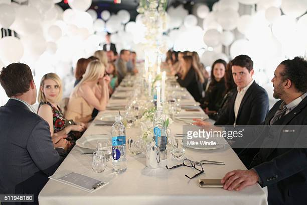 Guests attend smartwater sparkling celebrates Jennifer Aniston and St Jude's Children's Hospital at W Hollywood on February 23 2016 in Hollywood...