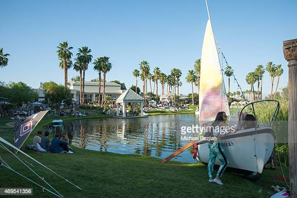 Guests attend Soho Desert House on April 12, 2015 in La Quinta, California.