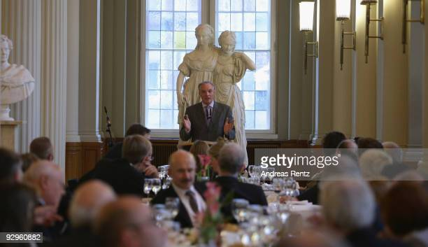 Guests attend the 10th World Summit of Nobel Peace Laureates at Berlin town hall on November 10 2009 in Berlin Germany