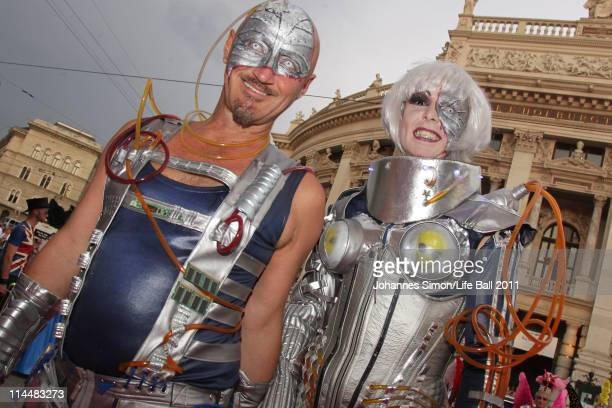 Guests attend the 19th Life Ball at the Town Hall on May 21 2011 in Vienna Austria