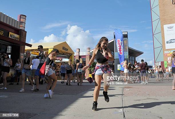 Guests attend the 2016 Billboard Hot 100 Festival Day 1 at Nikon at Jones Beach Theater on August 20 2016 in Wantagh New York