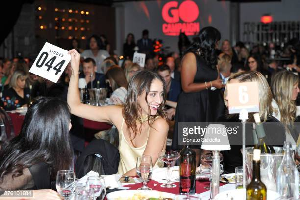 Guests attend the 2017 GO Campaign Gala at NeueHouse Los Angeles on November 18 2017 in Hollywood California