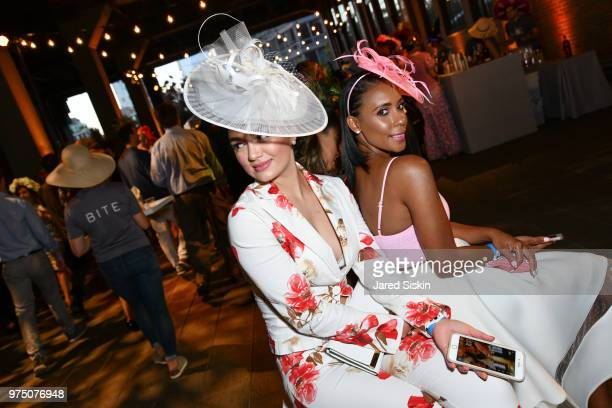 Guests attend the 2018 High Line Hat Party at the The High Line on June 14 2018 in New York City
