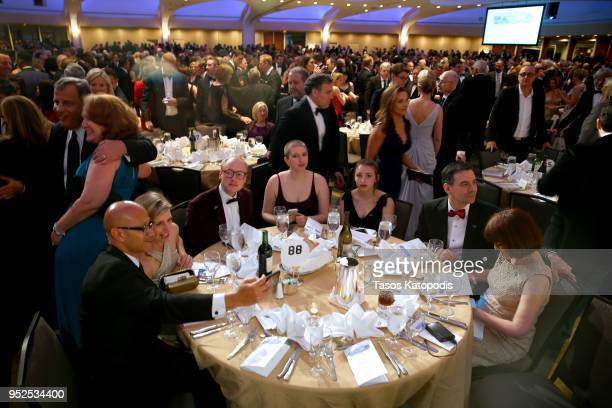 Guests attend the 2018 White House Correspondents' Dinner at Washington Hilton on April 28 2018 in Washington DC