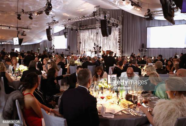 Guests attend the 25th Annual Elton John AIDS Foundation's Academy Awards Viewing Party at The City of West Hollywood Park on February 26 2017 in...