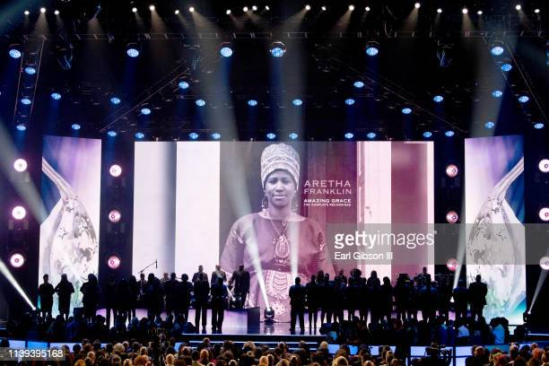 Guests attend the 34th annual Stellar Gospel Music Awards at the Orleans Arena on March 29 2019 in Las Vegas Nevada