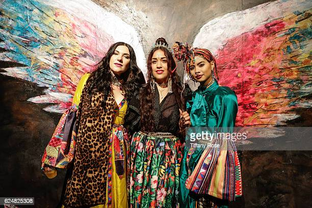 Guests attend the AFROPUNK Fancy Dress Ball during the Red Bull Sound Select 30 Days in LA at The MacArthur on November 20 2016 in Los Angeles...