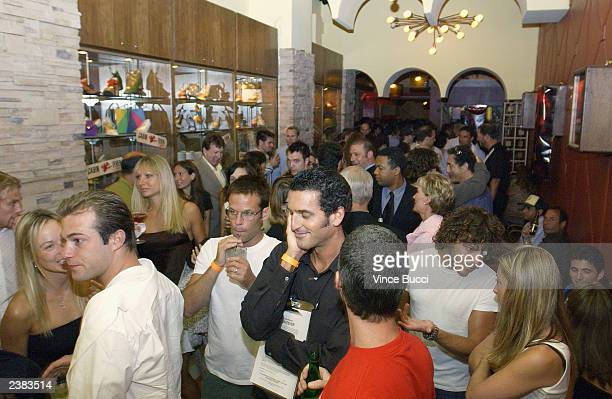 Guests attend the afterparty for the Los Angeles premiere of the film Cabin Fever on August 8 2003 at Star Shoes in Hollywood California