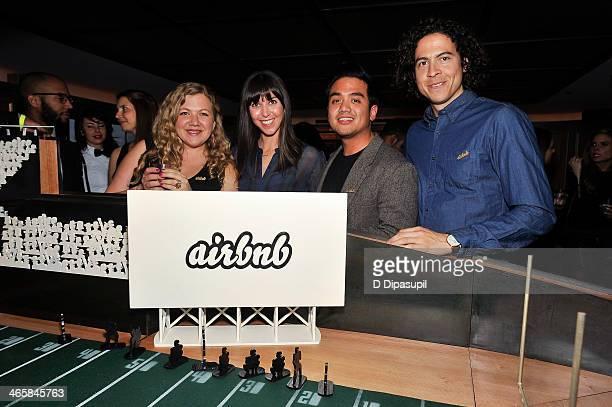 Guests attend the Airbnb Super Suite at Roc Nation Sports Airbnb's Welcome To New York event at 40 / 40 Club on January 29 2014 in New York City