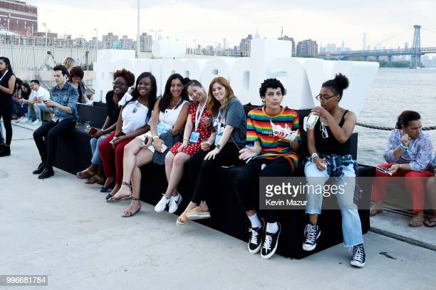 Guests attend the Amazon Music Unboxing Prime Day event on July 11 2018 in Brooklyn New York