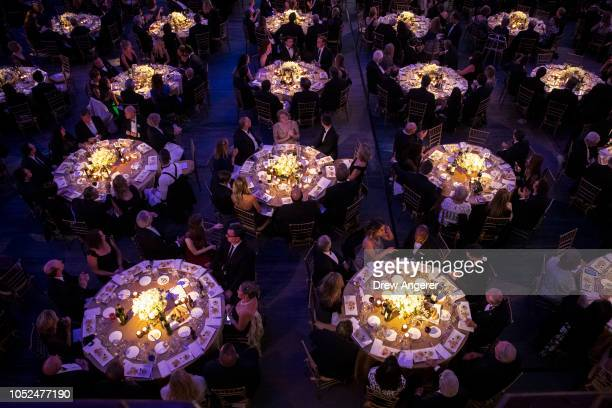 Guests attend the annual Alfred E Smith Memorial Foundation dinner October 18 2018 in New York City The annual whitetie dinner raises money for...