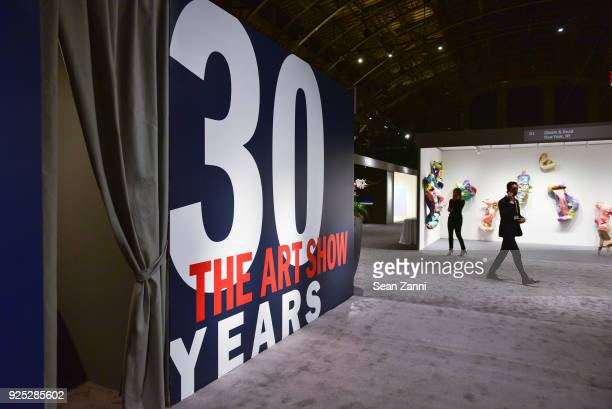 Guests attend The Art Show Gala Preview at Park Avenue Armory on February 27 2018 in New York City