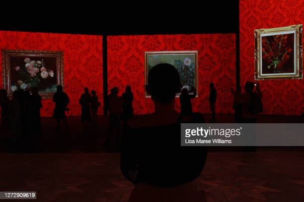 Guests attend the Australian premiere of Van Gogh Alive at Royal Hall of Industries, Moore Park on September 17, 2020 in Sydney, Australia. Van Gogh...