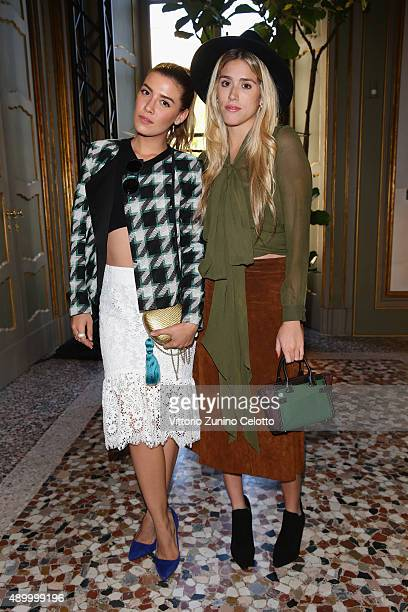 Guests attend the Bally presentation as part of Milan Fashion Week Spring/Summer 2016 on September 25 2015 in Milan Italy