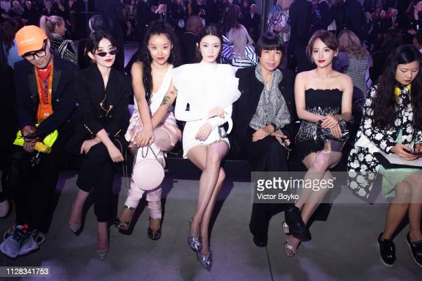 Guests attend the Balmain show as part of the Paris Fashion Week Womenswear Fall/Winter 2019/2020 on March 1 2019 in Paris France
