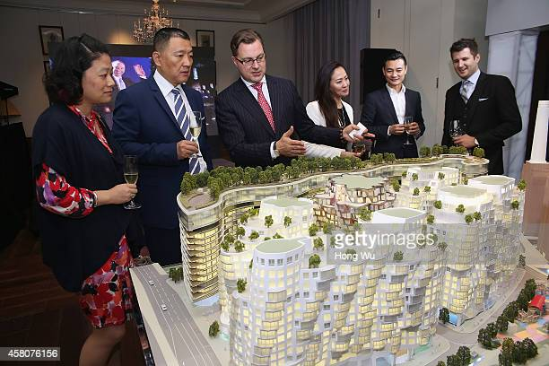 Guests attend the Battersea Power Station launch party to celebrate the launch of its Global Tour at The House of Roosevelt on October 29 2014 in...
