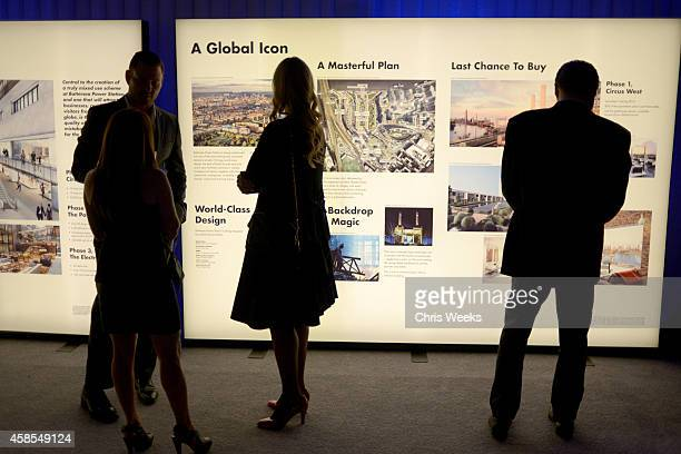 Guests attend the Battersea Power Station launch party to celebrate the launch of its Global Tour at The London West Hollywood on November 6 2014 in...