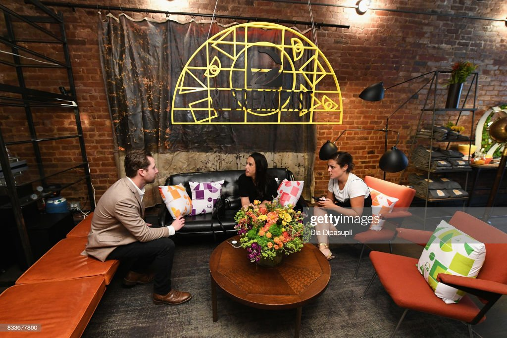 Guests attend the 'Bell & Breakfast' event hosted by Taco Bell to give fans the chance to try the new Naked Egg Taco on August 17, 2017 in New York City.