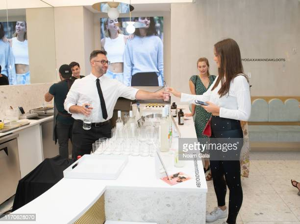 Guests attend the Beyond Yoga x Amanda Kloots Collaboration Launch Event on August 27 2019 in New York City