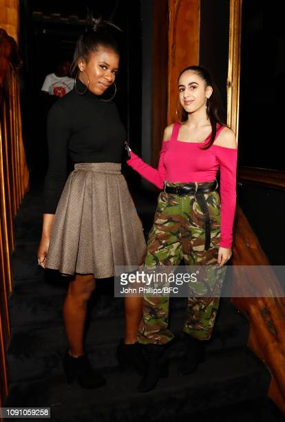 Guests attend the Bianca Saunders x Blanguage event during London Fashion Week Men's January 2019 on January 07 2019 in London England