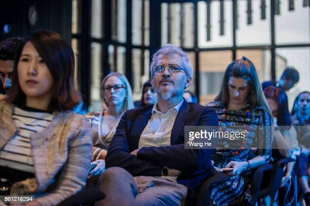 Guests attend the BoF China Summit during Shanghai Fashion Week at Fosun Foundation on October 11 2017 in Shanghai China