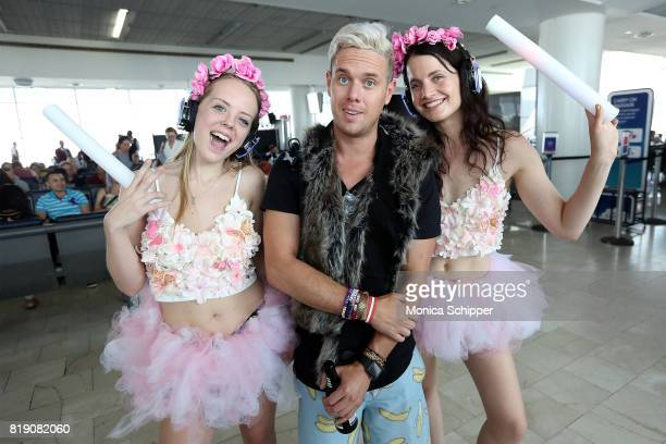 Guests attend the Brussels Airlines JFK Gate Party To Tomorrowland on July 19 2017 in New York City