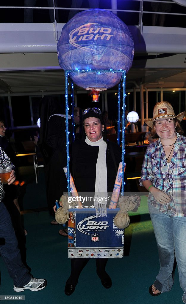 Guests Attend The Bud Light Port Paradise Cruise Costume Party On October  29, 2011 En