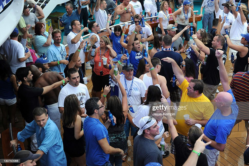 Guests Attend The Bud Light Port Paradise Cruise Through The Caribbean On  October 28 2011 En