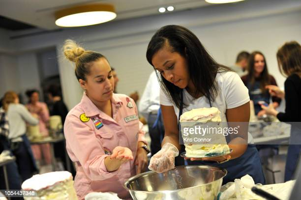 Guests attend the Cake Decorating Master Class at Institute of Culinary Education on October 13 2018 in New York City