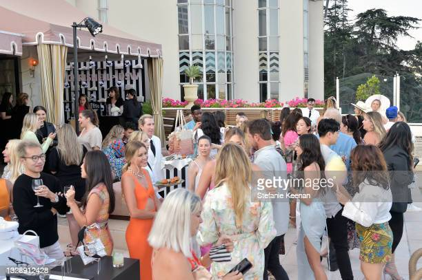 Guests attend the celebration of Chrishell Stause's DSW Fun, Flirty Capsule Collection at Sunset Tower Hotel on July 14, 2021 in Los Angeles,...