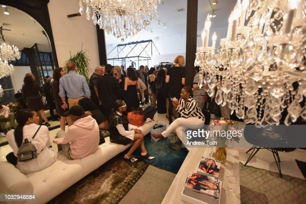 Guests attend the celebration of the BCBGMAXAZRIA SoHo store opening with Kate Young Bernd Kroeber and InStyle on September 13 2018 in New York City