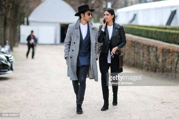 Guests attend the Christian Dior show as part of the Paris Fashion Week Womenswear Fall/Winter 2017/2018 on March 3 2017 in Paris France
