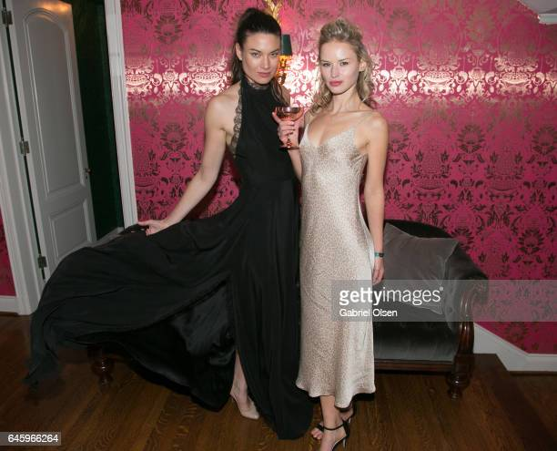 Guests attend the Circus Magazine Oscars Celebration Hosted By Steve Shaw and Jonas Tahlin CEO Absolut Elyx Sponsored by Volvo and Vaseline on...