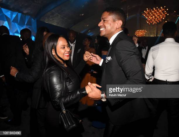 Guests attend the City of Hope Spirit of Life Gala 2018 at Barker Hangar on October 11 2018 in Santa Monica California