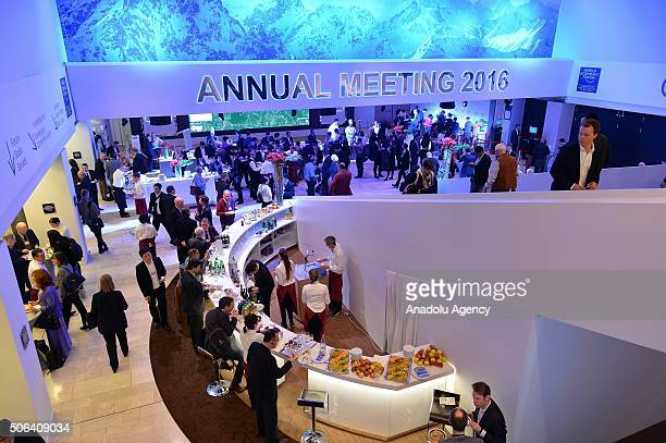 Guests attend the closing reception of World Economic Forum under the title of '4th Industrial Revolution' in Davos Switzerland on January 23 2016