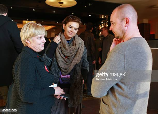 Guests attend the Concerned Russian premiere of Boris Khlebnikov's TNT Series during the Saint Petersburg International Media Forum at the Angleterre...