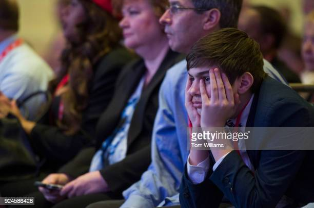 Guests attend the Conservative Political Action Conference at the Gaylord National Resort in Oxon Hill, Md., on February 23, 2018.