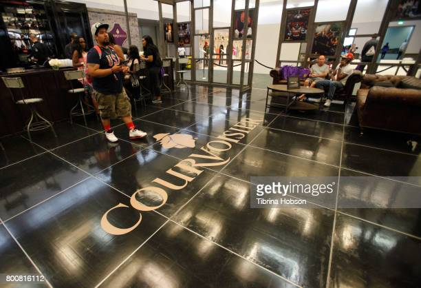 Guests attend the Courvoisier booth at day two of Fashion and Beauty during the 2017 BET Experience at Los Angeles Convention Center on June 25 2017...